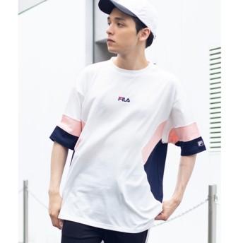 [マルイ]【セール】FILA別注レジメ切替Tシャツ/ウィゴー(メンズ)(WEGO)