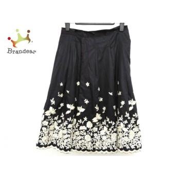 ロイスクレヨン Lois CRAYON スカート サイズM レディース 黒×白 刺繍 新着 20190708