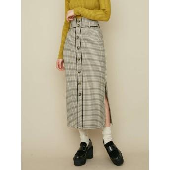 [MURUA]サイドスリットIラインスカート