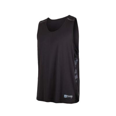 FIRESTAR 男吸濕排汗籃球背心-無袖背心 球衣 黑麻灰