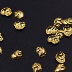 M3200 500個 ネイルパーツ メタルパーツ 巻貝 4×5mm ゴールド【約500ヶ】