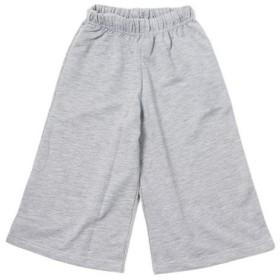 (NEXT WALL/ネクストウォール)キッズ 子供服 ワイドパンツ 女の子 無地 半ズボン ハーフパンツ 8分丈 ガウチョパンツ サイドラ/レディース 杢グレー