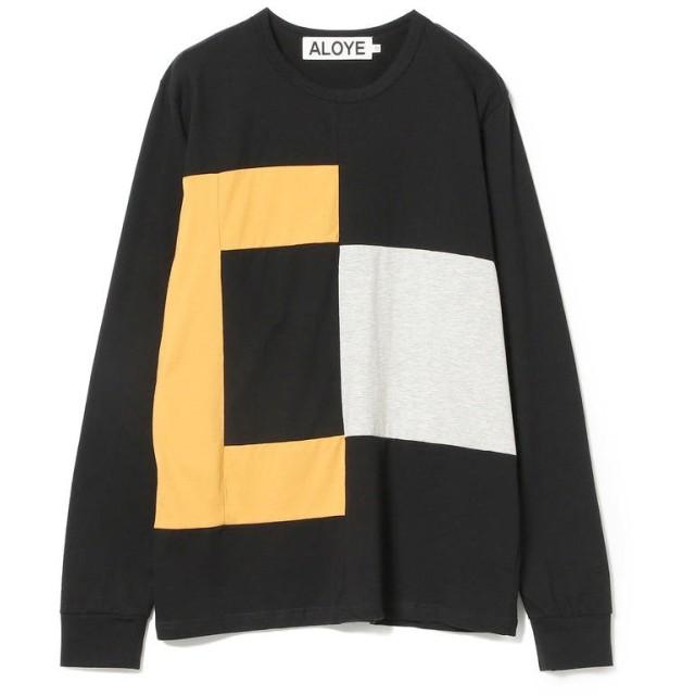 ビームス ウィメン ALOYE × Ray BEAMS / 別注 カラー ロングスリーブ Tシャツ レディース BLACK ONESIZE 【BEAMS WOMEN】