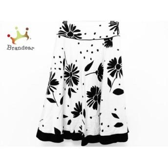 ロイスクレヨン Lois CRAYON スカート サイズM レディース 白×黒 花柄 新着 20190708