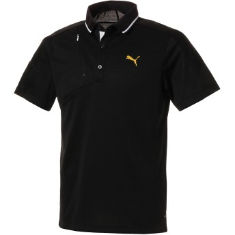 【プーマ公式通販】 プーマ ゴルフ ジップポケット SSポロシャツ 半袖 メンズ Puma Black  PUMA.com