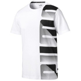 PUMA(プーマ)メンズスポーツウェア 半袖ベーシックTシャツ SUMMER ロゴ Tシャツ 84519802 メンズ プーマ ホワイト