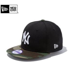 【メーカー取次】NEW ERA ニューエラ Youth キッズ用 9FIFTY MLB ニューヨーク ヤンキース ブラックXウッドランド 11308486 キャップ 子供用 帽子 ブランド
