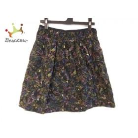 マークバイマークジェイコブス MARC BY MARC JACOBS スカート サイズ0 XS レディース 黒×マルチ 新着 20190708
