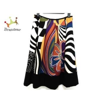 ロイスクレヨン Lois CRAYON スカート サイズM レディース 黒×イエロー×マルチ 新着 20190708