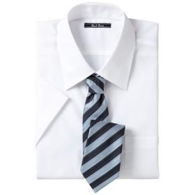 【メンズ】 形態安定ビジネスシャツ(半袖) ■カラー:レギュラーカラー ■サイズ:L