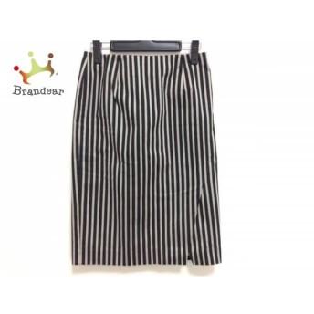 トゥモローランド スカート サイズ38 M レディース 美品 黒×ベージュ collection/ストライプ 新着 20190708