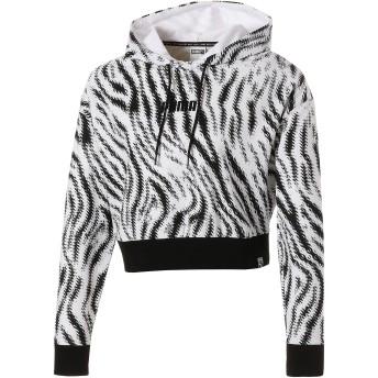 【プーマ公式通販】 プーマ WILD PACK ウィメンズ クロップド AOP フーディ ウィメンズ Puma White-Zebra AOP |PUMA.com