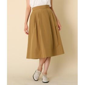 Couture Brooch(クチュールブローチ) 【WEB限定サイズ(S・LL)あり/手洗い可】タフタタックフレアスカート