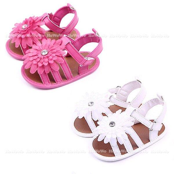 女寶學步鞋 花朵防滑涼鞋 軟底嬰兒鞋 (11-12cm) MIY1538
