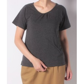 (FINE OUTLET/ファインアウトレット)【SM2】 抗菌加工無地半袖Tシャツ/レディース チャコールグレー