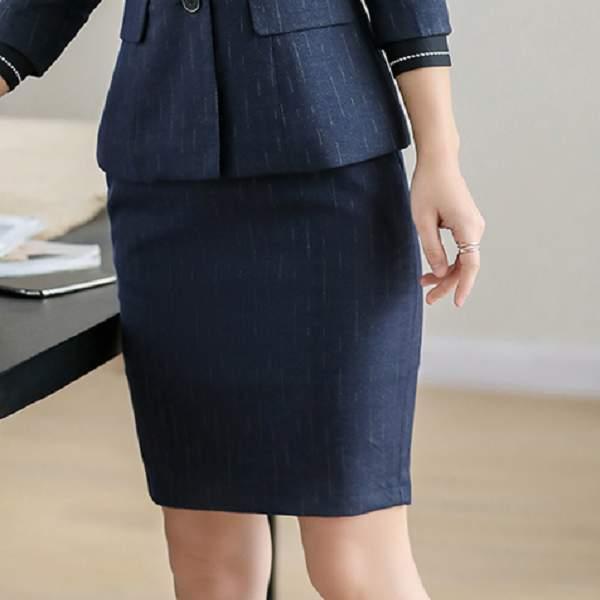 時尚條紋百搭OL上班窄裙[9S029-PF]灰姑娘