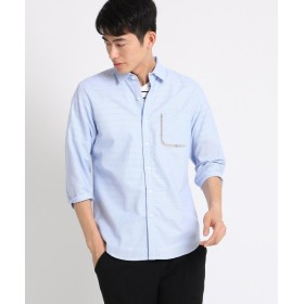 THE SHOP TK(Men)(ザ ショップ ティーケー(メンズ)) コットンデザインポケット7分袖シャツ