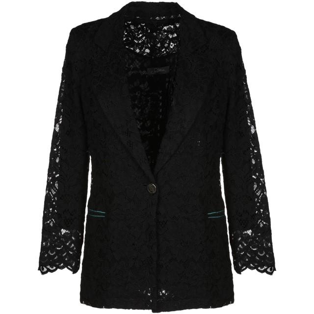 《期間限定 セール開催中》SOALLURE レディース テーラードジャケット ブラック 40 ナイロン 60% / コットン 40% / ポリエステル