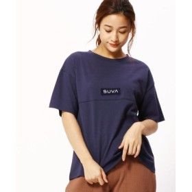 (Grand PARK/グランドパーク)ボックスロゴワッペンTシャツ/レディース 67ネイビー