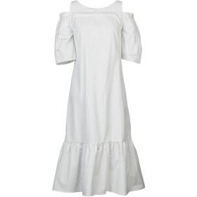 《期間限定セール開催中!》GUGLIELMINOTTI レディース 7分丈ワンピース・ドレス ホワイト 42 コットン 100%