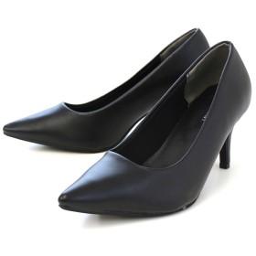AmiAmi 7cmヒール美脚ポインテッドトゥパンプス ブラック 25.0cm レディース 5,000円(税抜)以上購入で送料無料 パンプス 夏 レディースファッション アパレル 通販 大きいサイズ コーデ 安い おしゃれ お洒落 20代 30代 40代 50代 女性 靴 シューズ