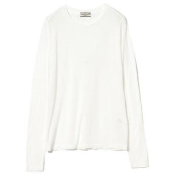(BEAMS WOMEN/ビームス ウィメン)Ray BEAMS High Basic/スクープネック ロングスリーブ Tシャツ/レディース WHITE 送料無料