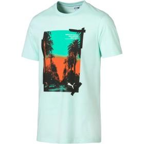 【プーマ公式通販】 プーマ GRAPHIC PALMS PHOTO SS Tシャツ 半袖 メンズ Fair Aqua  PUMA.com