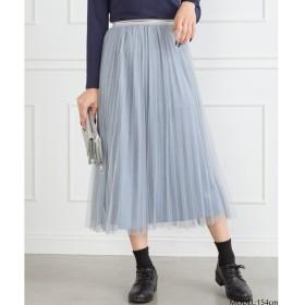 SpRay チュールラメプリーツスカート グレー M レディース 5,000円(税抜)以上購入で送料無料 マキシスカート 夏 レディースファッション アパレル 通販 大きいサイズ コーデ 安い おしゃれ お洒落 20代 30代 40代 50代 女性 スカート