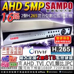 KINGNET 監視器攝影機 聲寶監控 1440P 16路監控主機 5MP 500萬 高解析輸出 DVR H.265 1080P 手機遠端監控