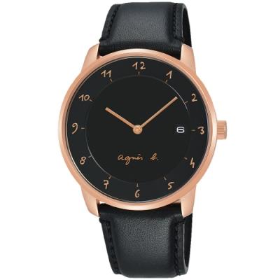 agens b. 法國時尚簡約手錶 BS9006J1 白x金框x黑 38mm