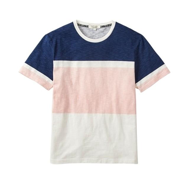 スラブ天竺プリント三段ボーダー半袖Tシャツ Tシャツ・カットソー
