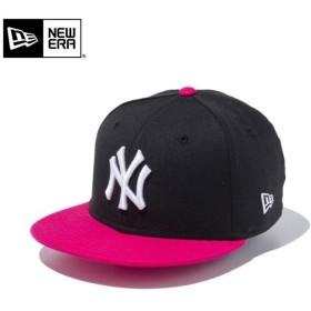 【メーカー取次】NEW ERA ニューエラ Youth キッズ用 9FIFTY MLB ニューヨーク ヤンキース ブラックXピンク 11433966 キャップ 子供用 帽子 ブランド