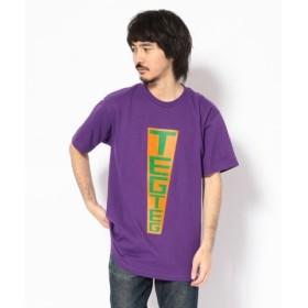 (RoyalFlash/ロイヤルフラッシュ)【別注】TEG TEG/テグテグ/RUSSIAN LOGO Tシャツ/メンズ PURPLE