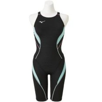 (送料無料)MIZUNO(ミズノ)スイミング レディース競泳 ストリームアクティバ ハーフスーツ(オープン) N2MG824099 レディース 99:ブラックxミント