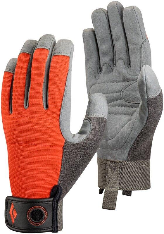 Black Diamond 攀岩確保垂降手套/耐磨手套 Crag Glove BD 801858 橘