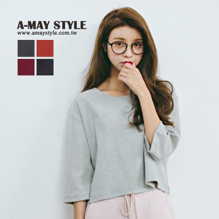 現貨韓國設計-系寬版短袖T恤【XZNA33285】*艾美時尚