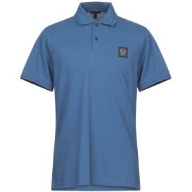 《期間限定 セール開催中》BELSTAFF メンズ ポロシャツ ブルーグレー L コットン 100%