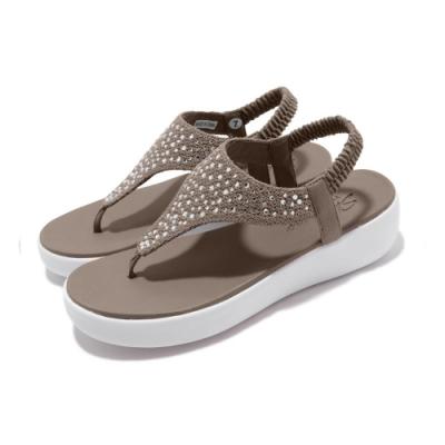 品牌: SKECHERS型號: 32756TPELight Star-Sand特點: 外出 增高5公分水鑽 YogaFoam 灰 褐