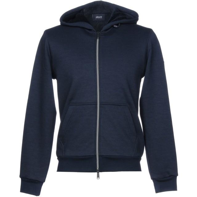 《期間限定セール開催中!》ARMANI JEANS メンズ スウェットシャツ ダークブルー XXL ポリエステル 88% / レーヨン 10% / ポリウレタン 2%