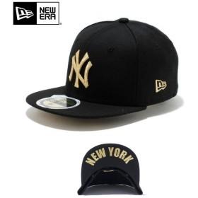 【メーカー取次】NEW ERA ニューエラ Kid's キッズ用 59FIFTY MLB UNDERVISOR ニューヨーク ヤンキース ブラックXゴールドロゴ NEW YORK 11310394 キャップ