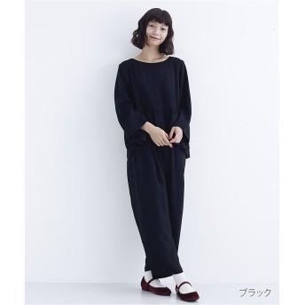メルロー ぺプラムトップスセットアップ1736 レディース ブラック FREE 【merlot】
