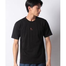 (Melan Cleuge/メラン クルージュ)OE綿チンパンジー刺繍Tシャツ/メンズ ブラック