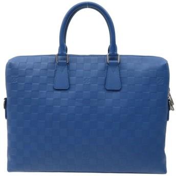 ルイヴィトン ポルト ドキュマン ジュール ダミエ・アンフィニ ブリーフケース N41328 ビジネスバッグ PDJ ブルー 【バッグ】