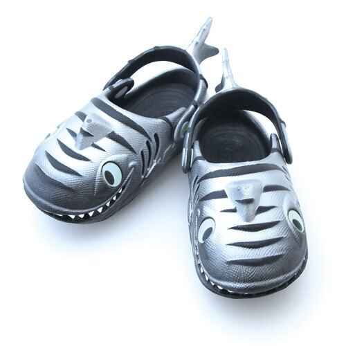 Polliwalks童鞋-鯊魚(銀黑)
