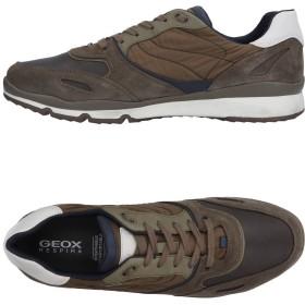 《期間限定セール開催中!》GEOX メンズ スニーカー&テニスシューズ(ローカット) ダークブラウン 39 紡績繊維 革