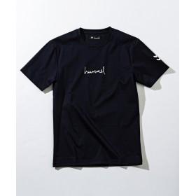 シフォン hummel(ヒュンメル)ロゴTシャツ メンズ ブラック S 【SHIFFON】