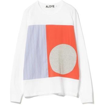 ビームス ウィメン ALOYE × Ray BEAMS / 別注 ストライプ ロングスリーブ Tシャツ レディース WHITE ONESIZE 【BEAMS WOMEN】