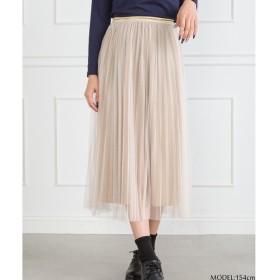 SpRay チュールラメプリーツスカート ベージュ M レディース 5,000円(税抜)以上購入で送料無料 マキシスカート 夏 レディースファッション アパレル 通販 大きいサイズ コーデ 安い おしゃれ お洒落 20代 30代 40代 50代 女性 スカート