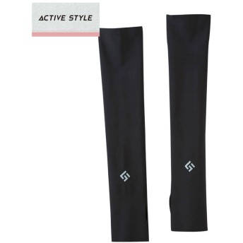 GUNZE グンゼ ACTIVE STYLE(アクティブ スタイル) アームカバー(レディース)【SALE】 ブラック M-L
