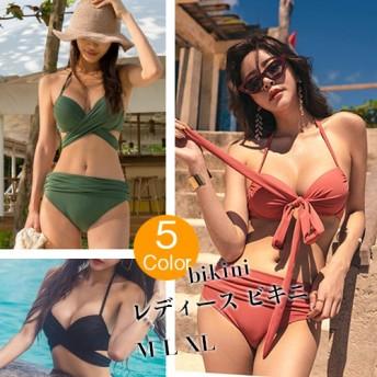 [超特価!] 韓国ファッション 体型カバー フリル付 ビスチェ ビキニ水着 レディース ビキニ/bikini